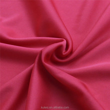 Hot sale 75D/36F 28needle 120gsm 100% polyester weft double knitting garment lining fabric plain dyed cheap for PU composite