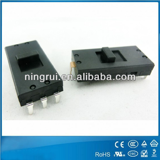2014 waterproof electrical equipment SPST SPDT slide switches for hair dryer and fan
