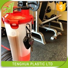 Custom Sport Shaker Bottle Dual With Separate Plastic Water bottle