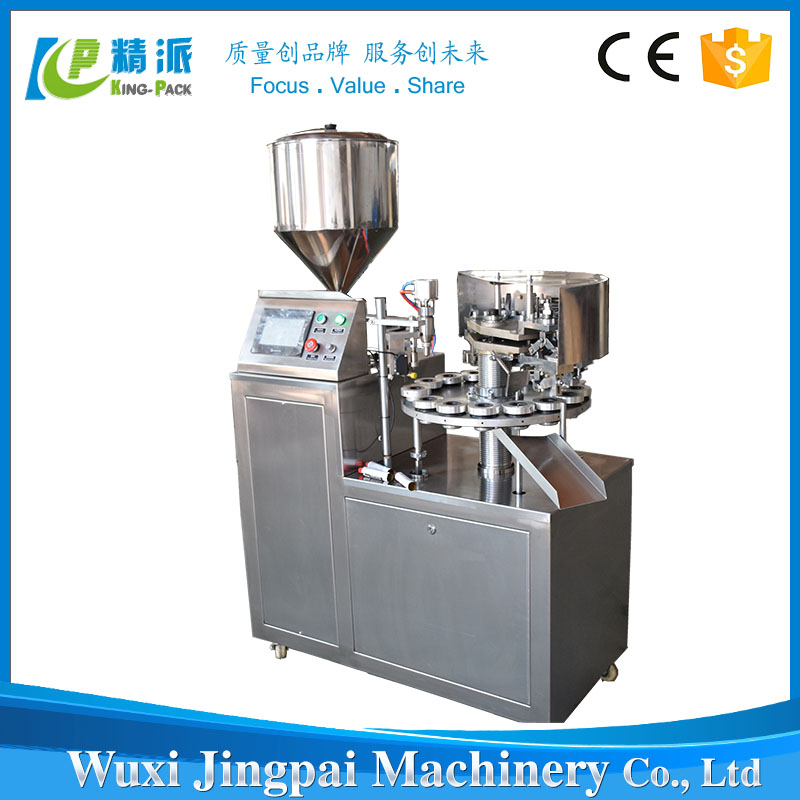 Semi automatic aluminum tube filling crimping machine for ointment