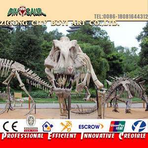 Theme park dinosaur skeleton