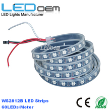 5050 SMD Addressable Ws2812B LED Strip Controlled DC5V Black PCB Digital RGB
