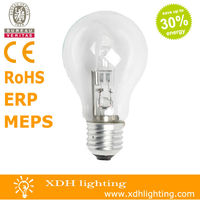A55 220-240V 70W E27 energy saving halogen lamps in classic shapes