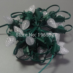 50nodes addressable RGB DC12V SM16703 Christmas C7 led piel string light;full color;Crystal C7 Cover;all GREEN wire; IP68