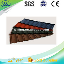 Hangzhou Popular classic stone coated roof tiles/brown Terracotta Blue color/ roofing sheet