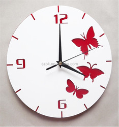2 tiers durable eco-friendly acrylic wall clock with good price