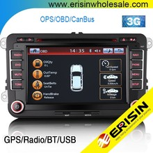 "Erisin ES7900V 7"" Car DVD Player Bluetooth Tiguan Touran Golf 5 6"