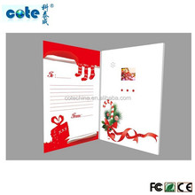 christmas tft video greeting card with note book