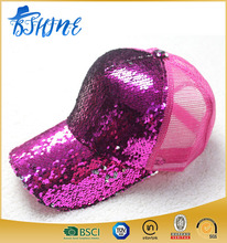 Fashion Sequins Baseball Caps for children Mesh Outdoor Hats Snapback Baseball Caps