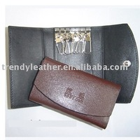 Promotion key case leather with embossed Logo