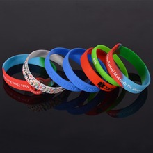 Factory bulk cheap silicone bracelet no minimum order custom silicone wristband