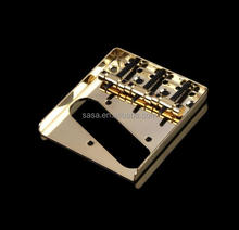 Electric Guitar 3 Saddle Bridge, Gold Color guitar bridge