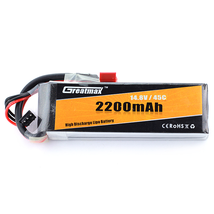 GreatMax best battery raw materials 4S 45C 14.8V 2200mAh lithium ion battery pack manufacturers for fpv quadcopter