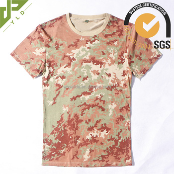 camouflage military short sleeve hunter shirts for men