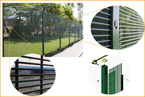 Low price and high quality powder coated 358 fencing