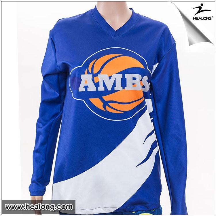 Cheap Long Sleeve Sublimation Cheap Custom Basketball
