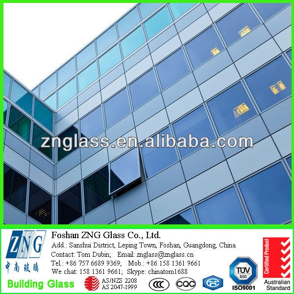 8mm solar reflective glass with good price & CCC & AS 2208 Australian standard
