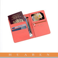 Huaben PU leather business card holder/leather passport case
