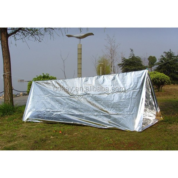 Disposable Waterproof PET Aluminum Foil Emergency Shelter Tent