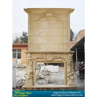 french style stone fireplace mantel