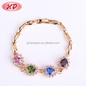 New 18K Saudi Gold Plated Barbed Wire Germanium Bracelet