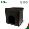 HStex black leather cheap folding dog houses