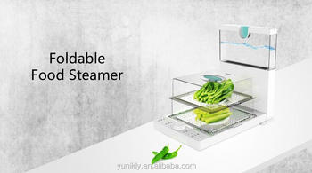 Folding Food Steamer With 2 Layers