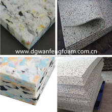 Soundproof Different Density PU Rebonded Foam Sheet for Sale