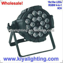 18*10 W RGBW LED Par Light with high quality (FOUR IN ONE)for club
