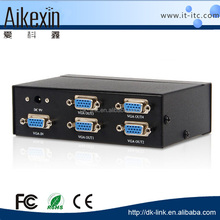 International standard vga switch 1 input 4 output vga switch non-power metal vga switch splitter 30mm 250HZ