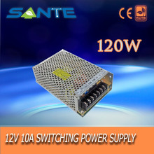 CE ROHS AC to DC 12v 10A 120w aluminum smps power supply
