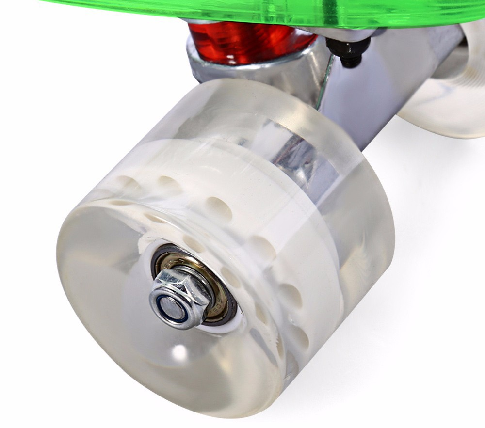 Free Shipping CL - 403 22 inch Four-wheel Transparent PC LED Retro Skateboard Longboard Mini Cruiser