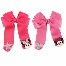 baby girls hair ribbons cheer bow with clip BH1069