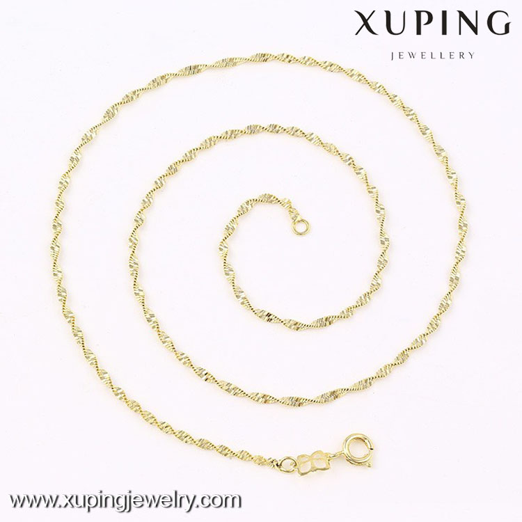 New arrive Saudi gold fashion design simple gold chain necklace