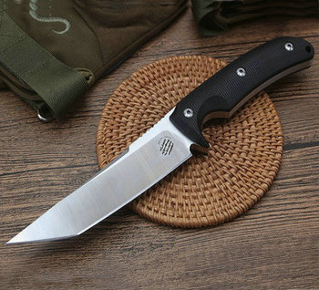 G10 Handle Outdoor Straight Knife Fixed Tactical Knives with K Sheath Camping Tools Dropshipping 8365