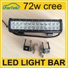 Aluminum housing 72w cree off road led light bar cheap factory price
