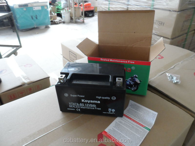 KOYAMA 12V6.5Ah Maintenance Free Motorcycle Lead Acid Battery