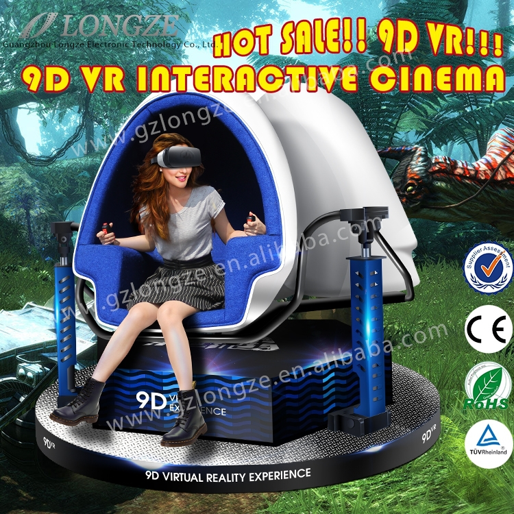3 Seats VR Amusement 3 Dof 3 Seat VR 3D Glasses Egg Virtual 9D Cinema Commercial Theater For Wonderful 9D Movies