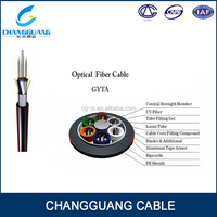 GYTA 24 Fibers Single-mode Single Armor Loose Tube Outdoor fiber optical cable ftth cable
