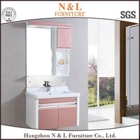 high gloss black finish bathroom vanity,one piece vanity top bathroom vanity top sink,bathroom vanity cabinet with PVC door