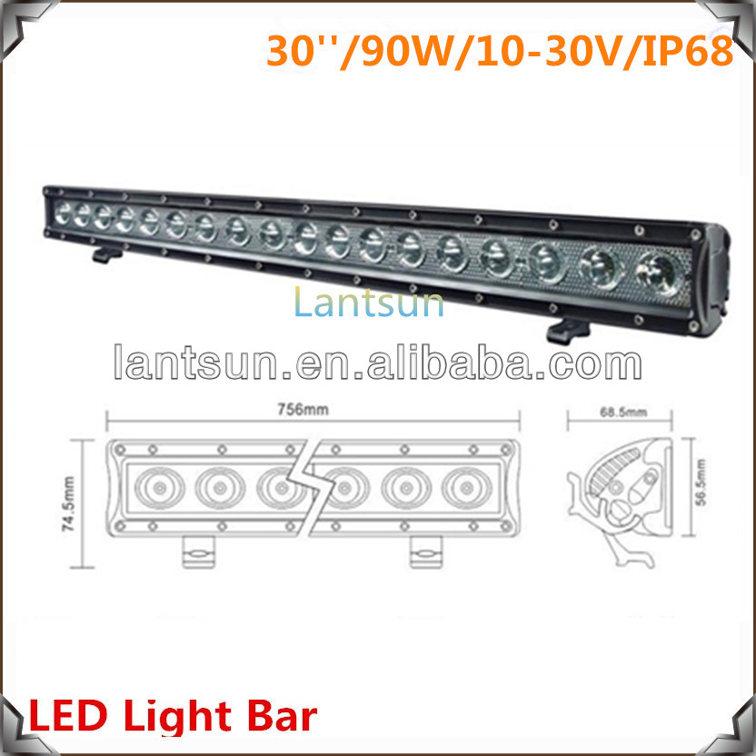 Headlamp Oval 30'' 90W LED off Road Light Bar for SUV Truck