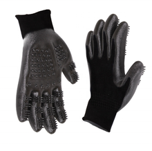 Pet Grooming Gloves Left & Right Enhanced Five Finger Design for Cats Dogs & Horses Long & Short Fur shedding