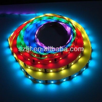 Most wanted 12 volt RGB 5050 led 5m strip 2811 IC 48 leds/m