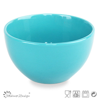 blue ceramic salad bowl