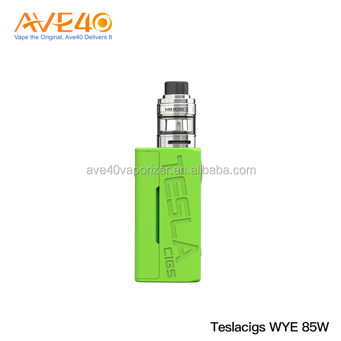Single 18650 battery Teslacigs 2ML Vape Electronic Cigarette Tesla WYE 85W TC Kit with H8 Mini