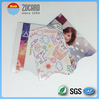 OEM customized logo printing credit card rfid blocking sleeves for passport