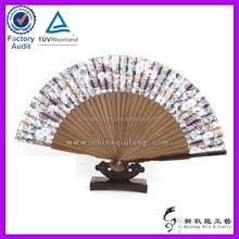 2016 High Quality Cheap Wholesale Silk Cover Hand Bamboo Fan For Wedding Decoration Hand Fans Elegant
