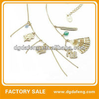 China pure gold 24K/gold plated necklace