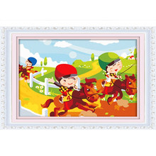 Wholesale cartoon design menglei oil painting by numbers