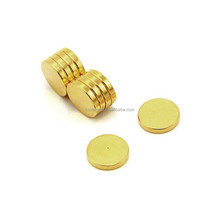 Gold Disc Magnet Rare Earth Neodymium Magnets 5mm 3mm